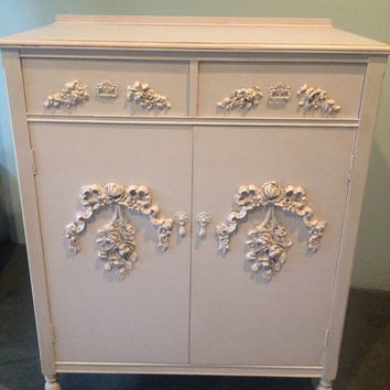 Antique French Provincial Highboy/ chest of drawers