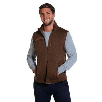 Lincoln Fleece Vest in Brown by The Normal Brand