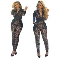 Rhinestone Black Jumpsuit