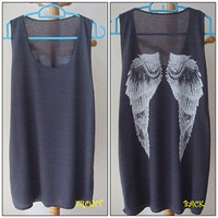 S M L XL Wings Fly funny new t-shirt tank top white women men vest