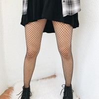 DIAMOND GIRL FISHNET TIGHTS- BLK