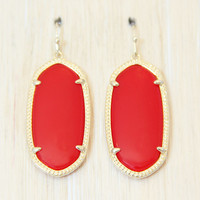 Kendra Scott Elle Earrings - Bright Red