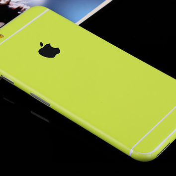 Lime Pure Decal Wrap Skin Set iPhone 6s 6 / iPhone 6s 6 Plus