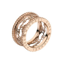 Michael Kors Monogram-Cutout Ring, Rose Golden