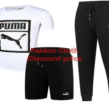 Puma Three-Piece Suit 2018 Spring Clothing L-4XL 17188 White Black