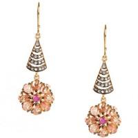 Dangling Earrings with Floral Motif - EI Design Earrings - Exclusively In - Designers