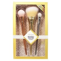 Real Techniques Bold Metals Collection - 3 Piece Brush Set