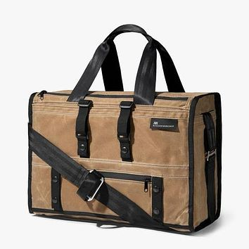 Mission Workshop - The Transit Duffle Brown Waxed Canvas Duffel Bag