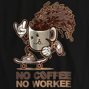 No Coffee Funny Pun Food T-shirt