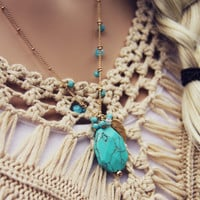 Turquoise Hunter Necklace