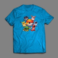 "POKEMON POWER RANGERS PARODY ""POKE RANGERS"" T-SHIRT"