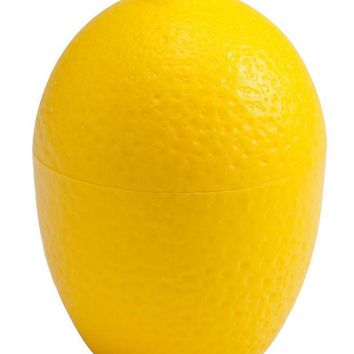 DCCKL72 Lemon / LimeSaver Plastic See Through  Container Holder  - Bulb Shaped Fresh and Moist Storage -Assorted