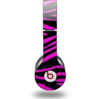 Pink Zebra Decal Style Skin fits Beats Solo HD Headphones - (HEADPHONES NOT INCLUDED)