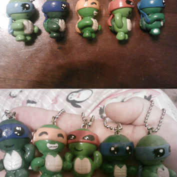Teenage Mutant Ninja Turtles Polymer Clay Keychain