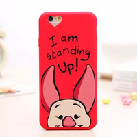 Cute 3D Cartoon Winnie The Pooh Piglet Soft Lovely Phone Back Cover Case For Apple iPhone 6 6s 4.7'