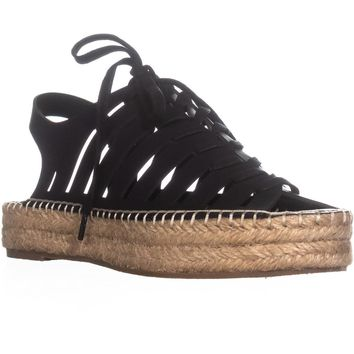 Indigo Rd. Bellie Strappy Espadrille Sandals, Black, 9 US