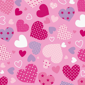 Pink Hearts 60x80 Twin Blanket - Free Shipping in the Continental US!