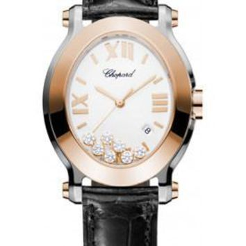 Chopard - Happy Sport - Oval - Stainless Steel and Rose Gold