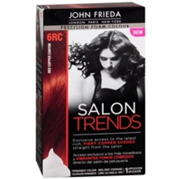 John Frieda Precision Foam Color Salon Trends Permanent Hair Color Red Copper Canyon | Walgreens