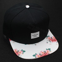 2015 new hot black/floral adjustable snapback caps baseball hats for men and women sports hip hop bone gorras cheap snap backs