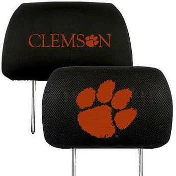 Clemson Tigers  2-Pack Auto Car Truck Embroidered Headrest Covers