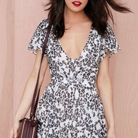 Nasty Gal Flirting with Danger Chiffon Dress