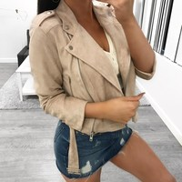 Sarahi Suede Jacket (blush)