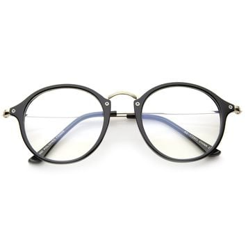 Indie Hipster Round Clear Lens Dapper Glasses A295