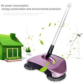 2017 automatic hand push sweeper broom household cleaning without electricity