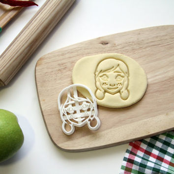 Anna Frozen Cookie Cutter Frozen Princess Cookie Cutter Disney Frozen Cupcake topper Fondant Gingerbread Cutters - Made from Eco Material