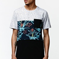On The Byas Watts Panel Pocket Crew T-Shirt - Mens Tee - Black