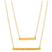 Gorjana knox layer necklace 16 inch & 17 inch layers 18k gold plated brass