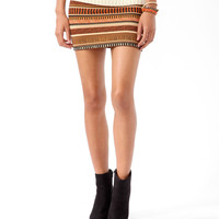 Safari Print Bodycon Skirt