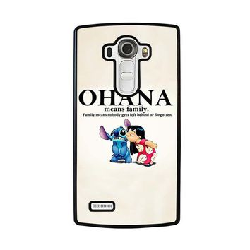 lilo and stitch ohana family disney lg g4 case cover  number 1