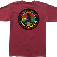 Grizzly Outdoor Suppliers Tee Medium Burgundy