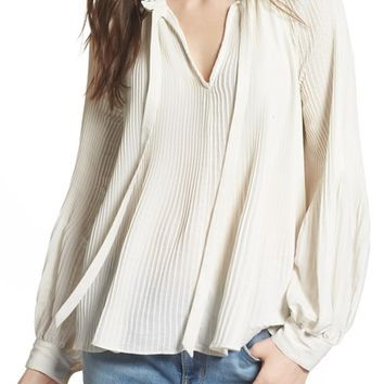 Treasure & Bond Pleated Peasant Top | Nordstrom