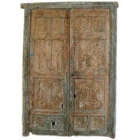 Lucca Antiques - Garden & More: 18th Century Carved Spanish Doors