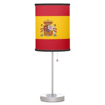 Patriotic table lamp with Flag of Spain