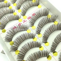Very Beautiful Eyelashes 10 Pairs/Lot Winged Beauty Supplies Eyelashes Individual False Eyelashes NOT Include Glue For Lashes