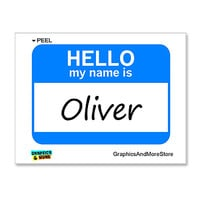 Oliver Hello My Name Is Sticker