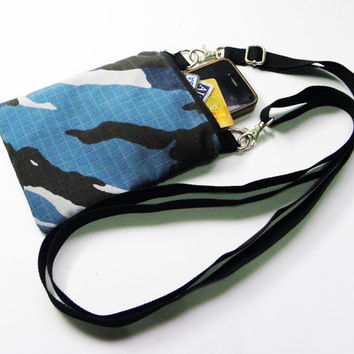 Small Blue Army Navy Marine Air Force Military Camouflage Bag,Iphone Bag,Crossbody Bag,Messenger Bag,Shoulder Bag For Boys Girls Men Women