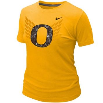 Nike Oregon Ducks Ladies Student Body Fan T-Shirt - Yellow