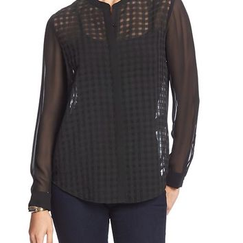 Banana Republic Factory Sheer Layering Blouse