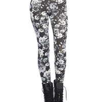 Black & Gray Floral Legging | WEt Seal