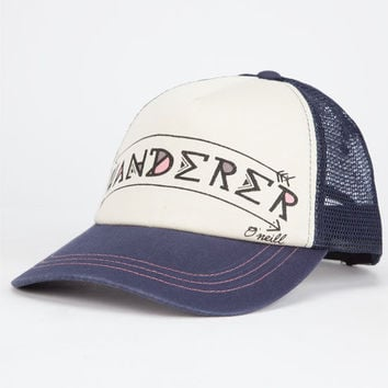 O'neill Wander Away Womens Trucker Hat Navy One Size For Women 25567721001