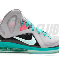 "lebron 9 p.s. elite ""south beach"" - wolf grey/mint candy-new green-pink flash 