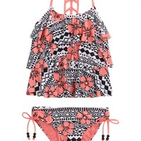 Tribal Flower Tankini Swimsuit