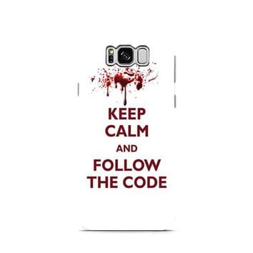 Dexter keep calm code quote Samsung Galaxy S8 | Galaxy S8 Plus case