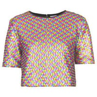 **SPANGLE CROP TOP BY THE WHITEPEPPER