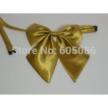 solid color gold women's neck bow tie butterflies